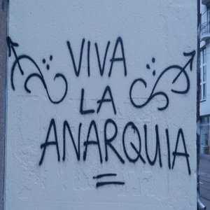 Graffiti Viva la Anarquia